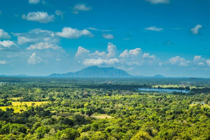 Mening van Onderstel Sigiriya Sri Lanka royalty-vrije stock afbeelding