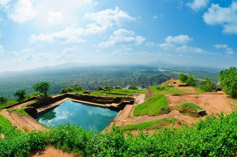 Mening van onderstel Sigiriya, Sri Lanka (Ceylon). royalty-vrije stock foto's