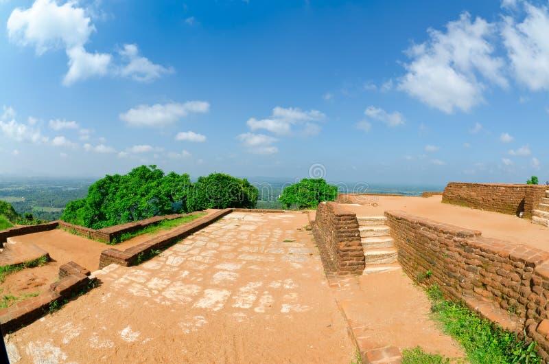 Mening van onderstel Sigiriya, Sri Lanka (Ceylon). royalty-vrije stock fotografie