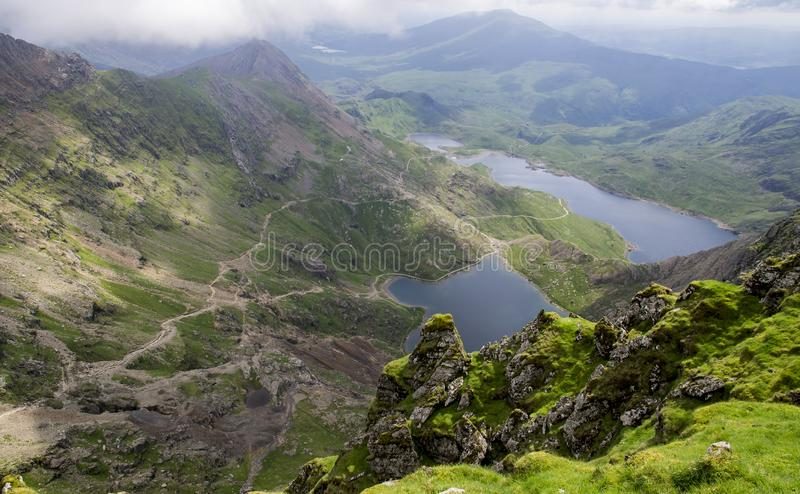 Mening van onderstel Snowdon Wales stock afbeeldingen