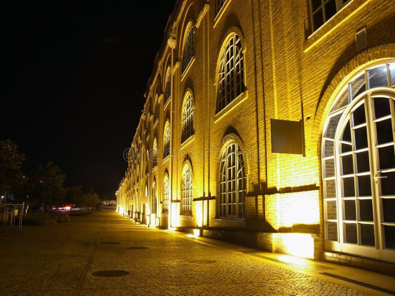 Mening van oude fabriek in Aveir royalty-vrije stock afbeelding