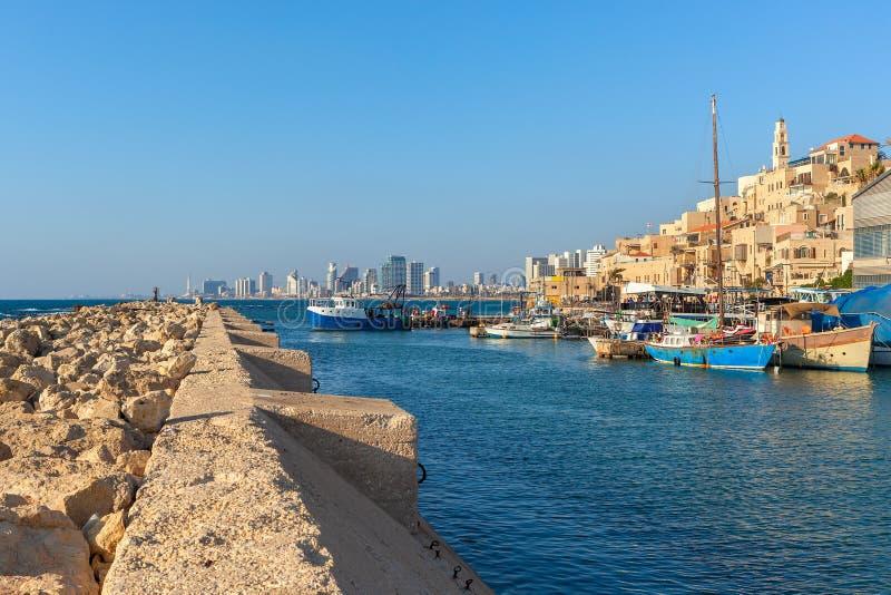 Mening van oude Jaffa, Israël stock fotografie