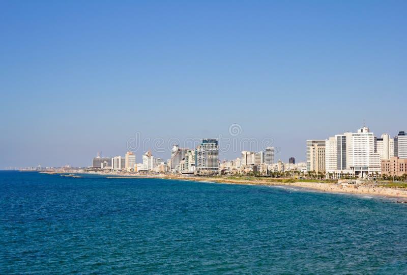 Mening van overzeese van Tel Aviv kant stock foto's