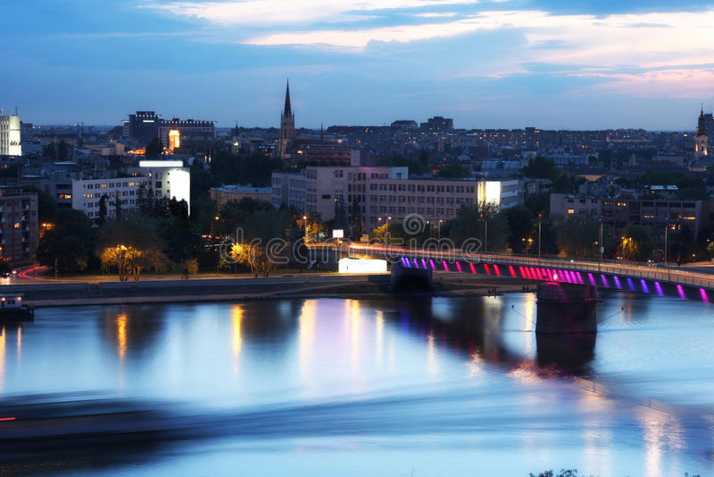 Mening van panorama Novi Sad, Servië royalty-vrije stock foto