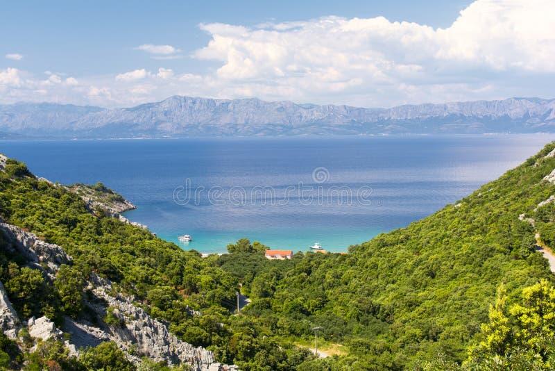 Mening van Peljesac in Dalmatië royalty-vrije stock fotografie