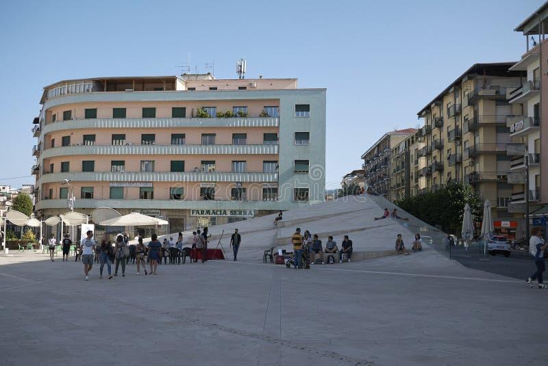 Mening van Piazza Carlo Bilotti stock foto