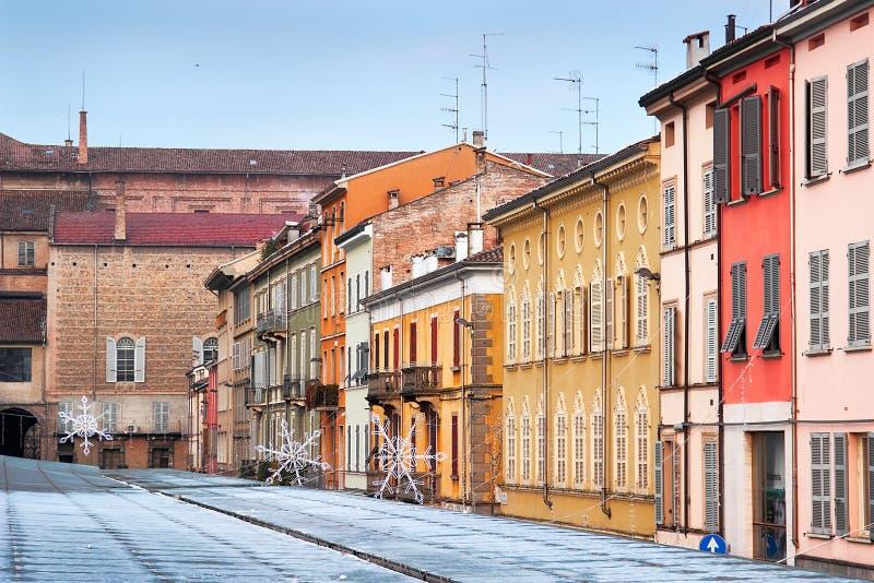 Mening van Piazza het vierkant van Ghiaia in de stad van Parma stock afbeelding