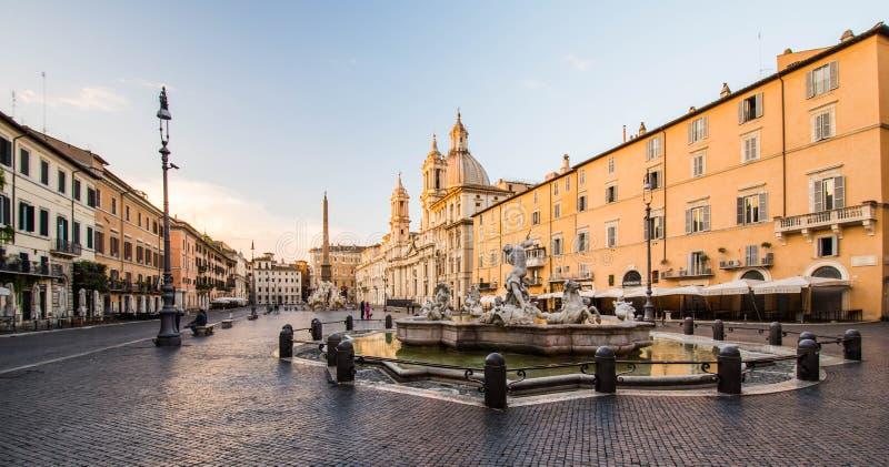 Mening van piazza navona, Rome, Italië stock fotografie