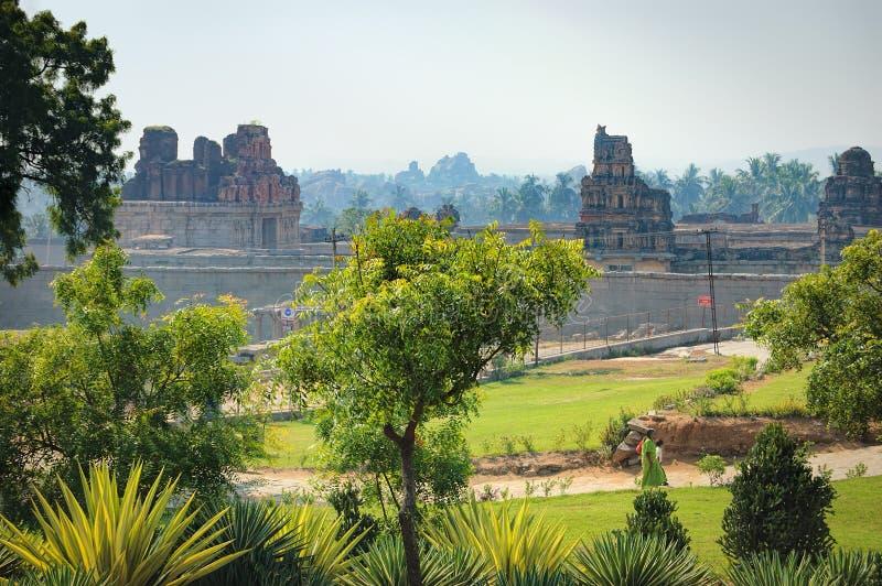 Mening van Prasanna Narasimha Temple in Hampi, India royalty-vrije stock foto's