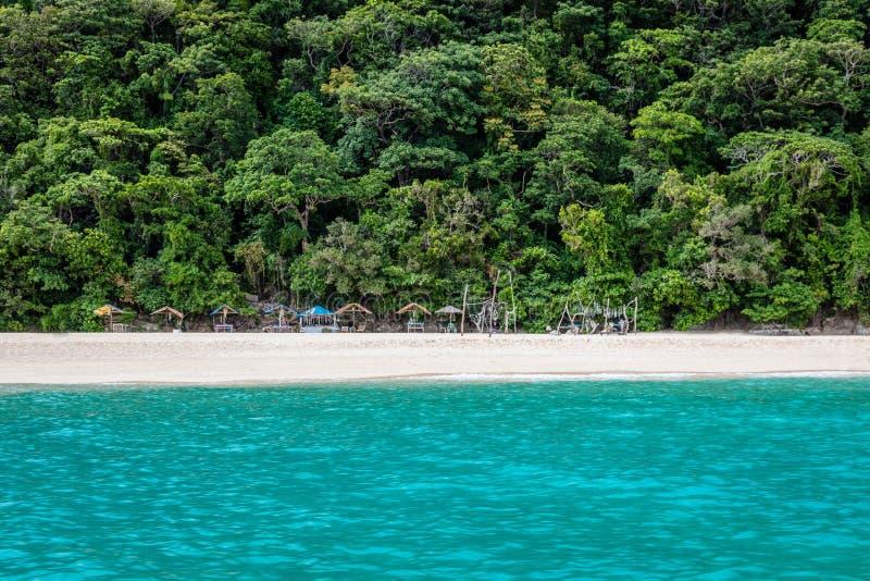 Mening van Puka-shell strand, Boracay-Eiland, Filippijnen stock afbeeldingen