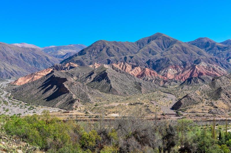 Mening van Quebrada DE La Humahuaca, Argentinië stock foto's