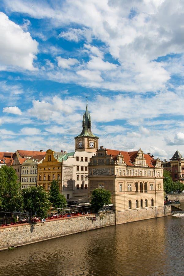 Mening van rivier Vltava stock fotografie
