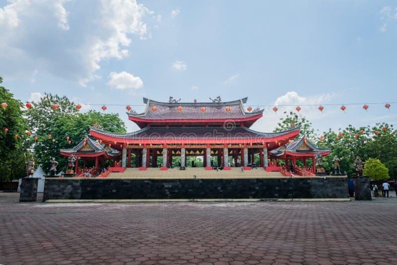 Mening van Sam Poo Kong-tempel in Semarang Indonesië royalty-vrije stock afbeelding
