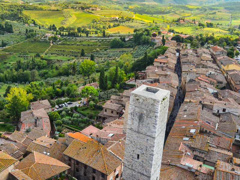 Mening van Sangimignano, Toscanië, Italië royalty-vrije stock fotografie
