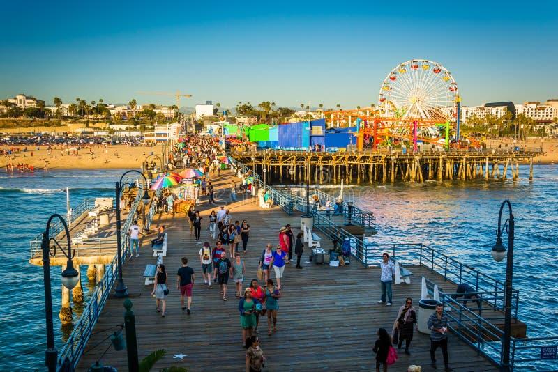 Mening van Santa Monica Pier, royalty-vrije stock fotografie