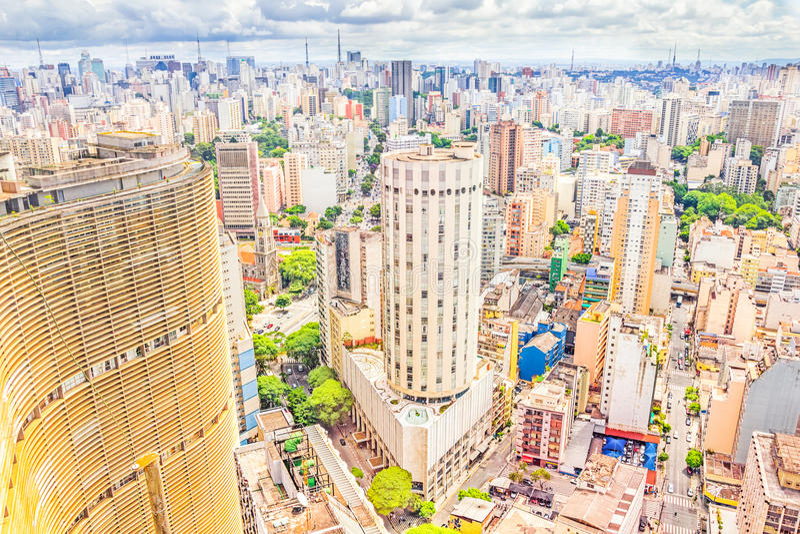 Mening van Sao Paulo, Brazilië stock afbeeldingen