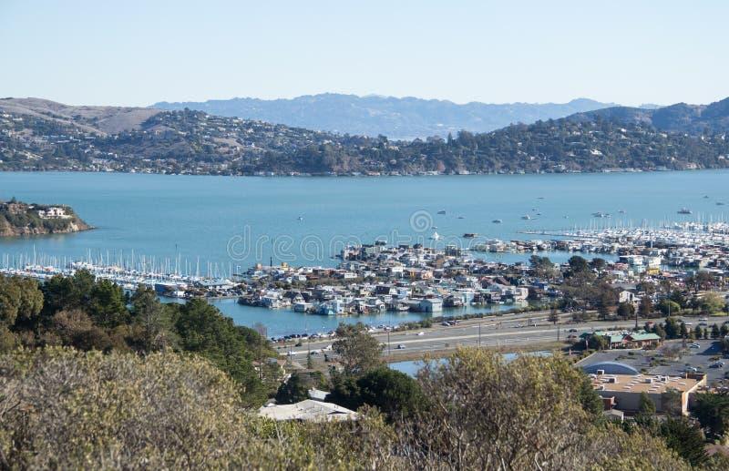Mening van Sausalito, CA royalty-vrije stock afbeeldingen