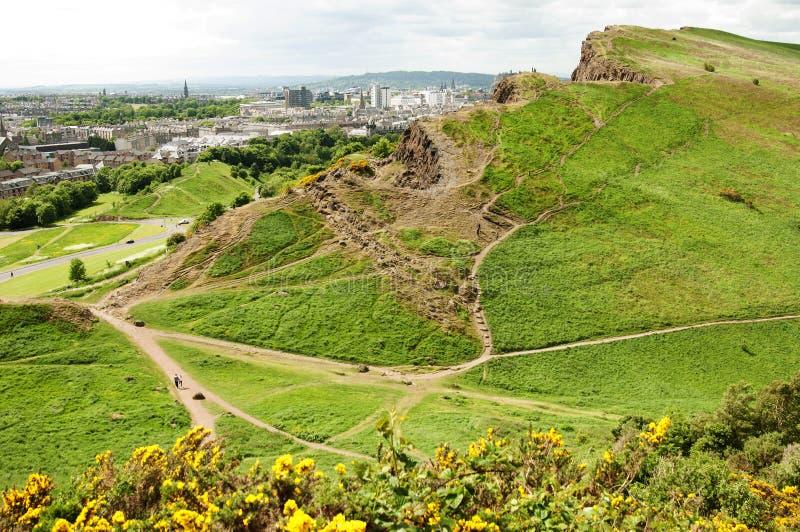 Mening van Seat van Arthur, Edinburgh royalty-vrije stock fotografie