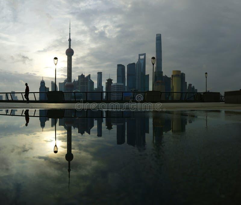 Mening van Shanghai, China royalty-vrije stock fotografie