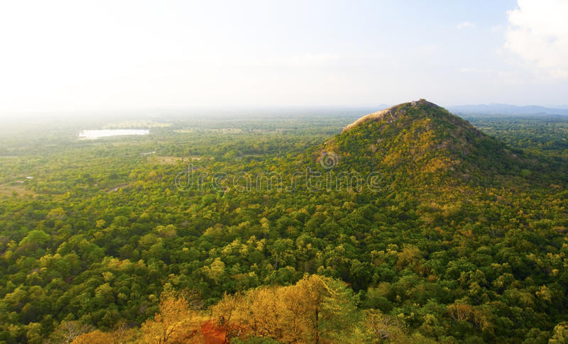 Mening van Sigiriya Rots, Sri Lanka stock afbeeldingen