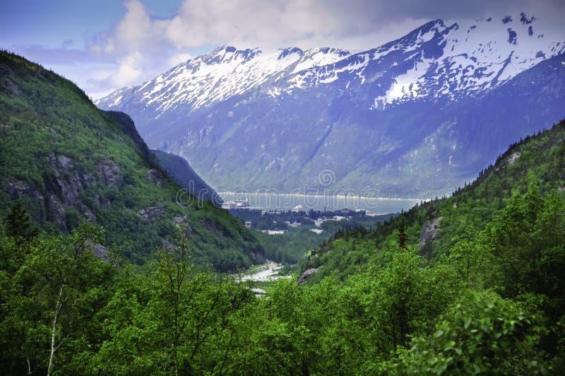 Mening van Skagway Alaska stock afbeeldingen