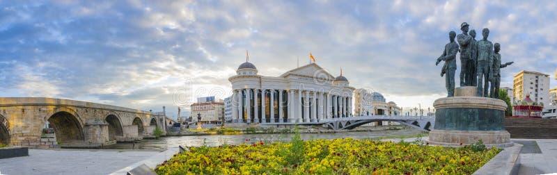 Mening van Skopje, Macedonië royalty-vrije stock afbeeldingen