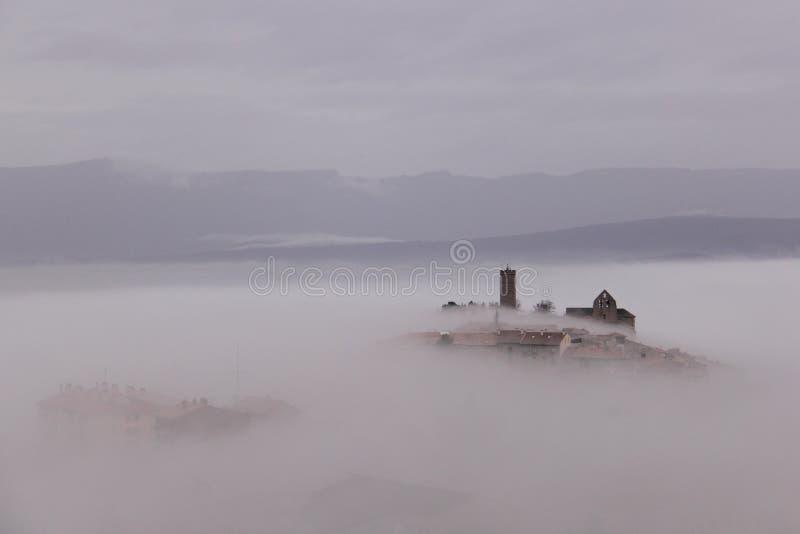 Mening van Sos del Rey Catolico van het kasteel royalty-vrije stock foto