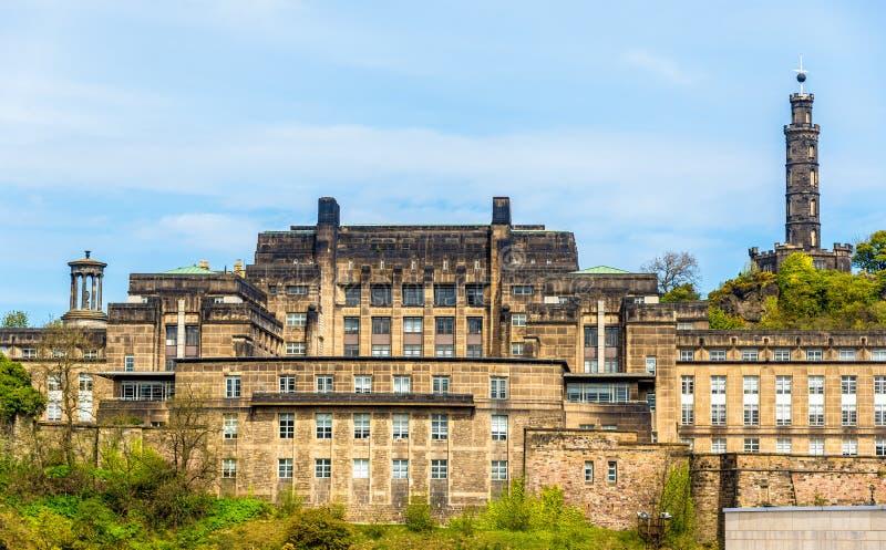 Mening van St Andrew Huis Edinburgh royalty-vrije stock foto's