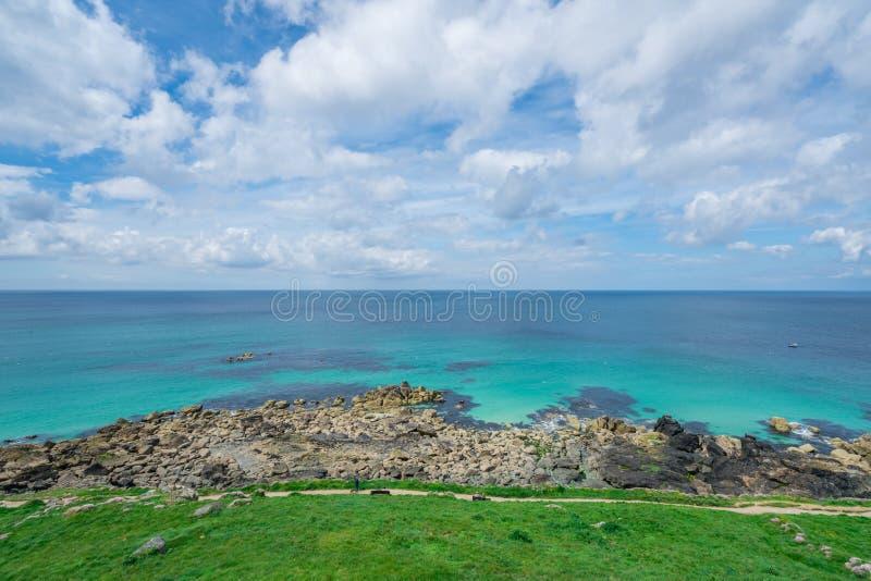 Mening van St Ives baai stock fotografie
