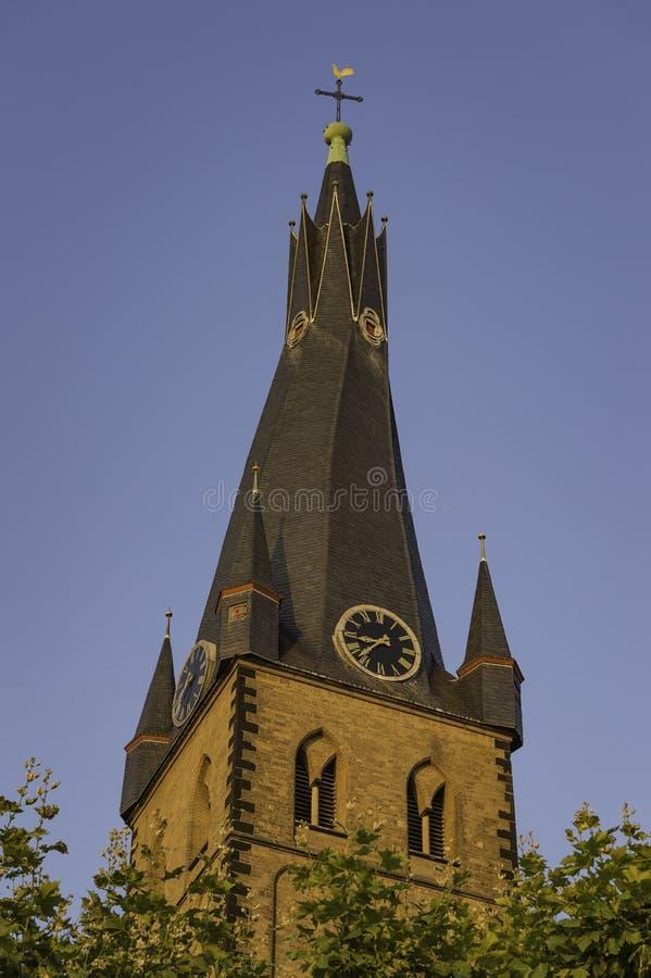 Mening van St Lambertus kapel in Dusseldorf, Duitsland stock afbeelding