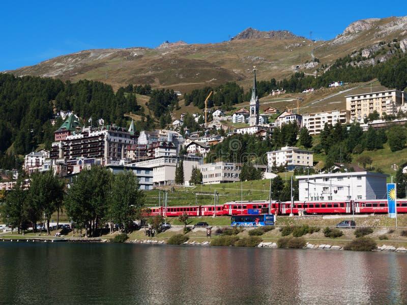 Mening van St. Moritz royalty-vrije stock afbeelding
