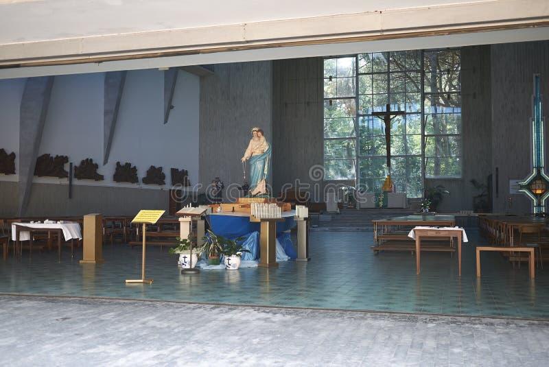 Mening van Stella Maris-kerk royalty-vrije stock afbeelding