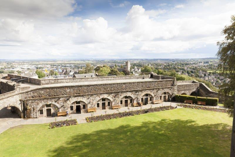 Mening van Stirling Caslte Scotland stock foto's