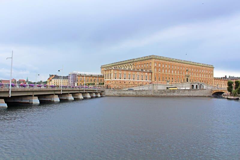 Mening van Stockholm Royal Palace, Gamla Stan, Zweden stock afbeeldingen