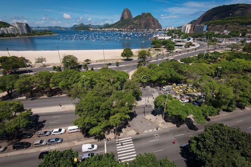Mening van Straten in Botafogo, Rio de Janeiro royalty-vrije stock fotografie