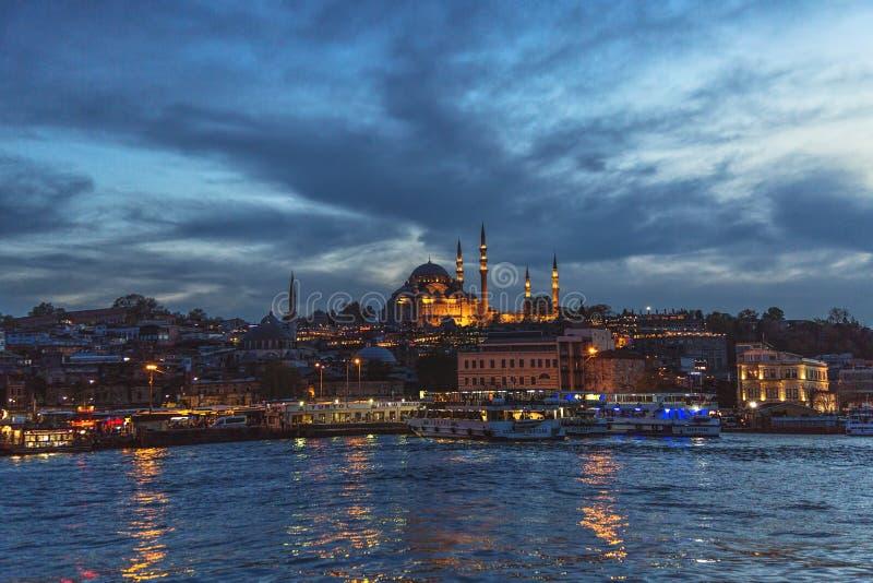 Mening van Suleymaniye-moskee, één van het symbool van Istanboel door Mimar Sinan stock afbeelding
