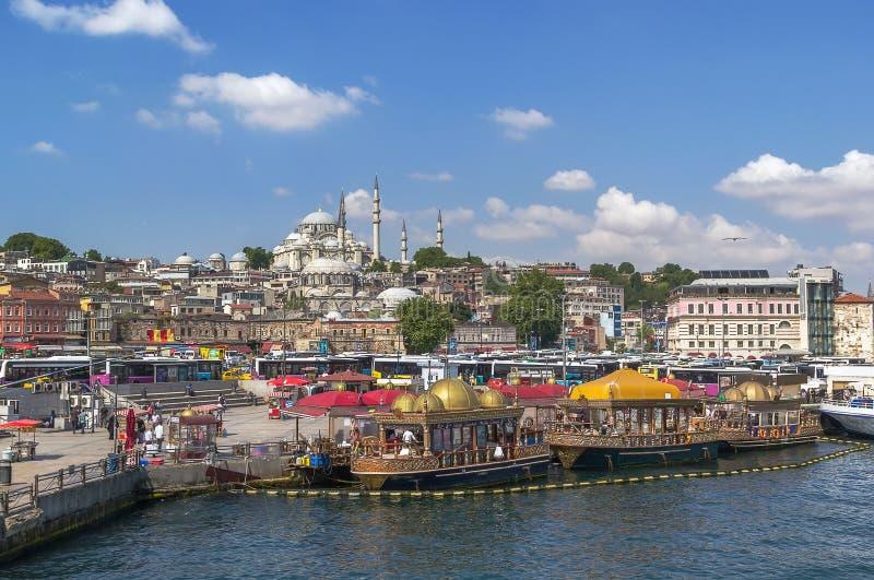 Mening van Suleymaniye Moskee, Istanboel royalty-vrije stock foto's