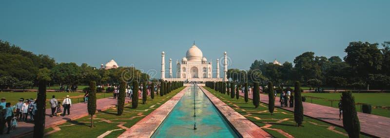 Mening van Taj Mahal stock foto