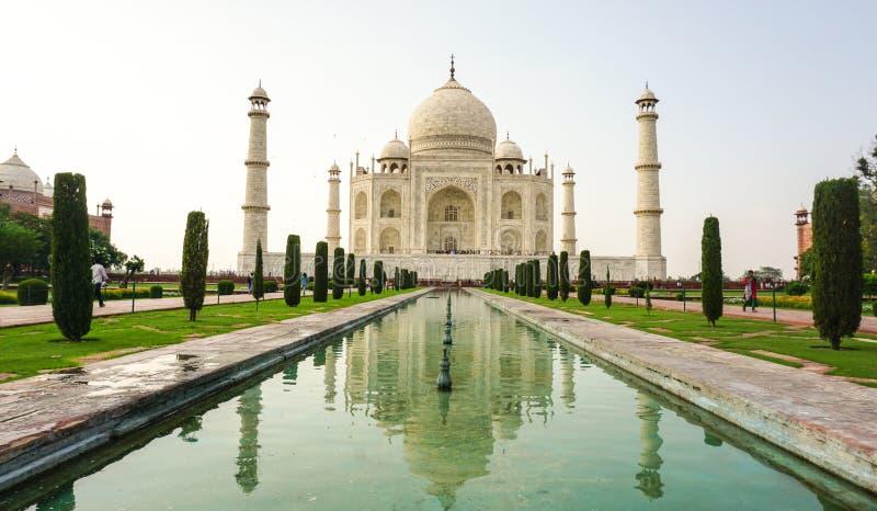 Mening van Taj Mahal in Agra, India stock fotografie