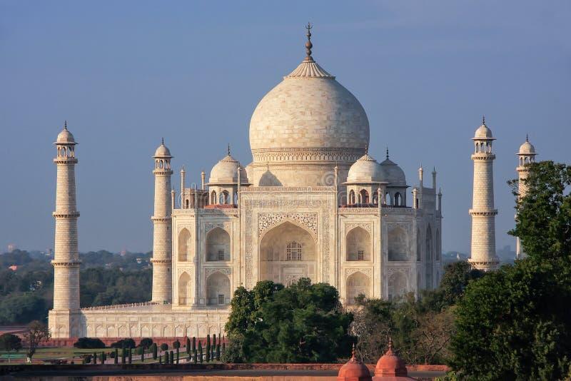 Mening van Taj Mahal in Agra, Uttar Pradesh, India stock foto's
