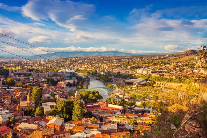 Mening van Tbilisi royalty-vrije stock afbeelding