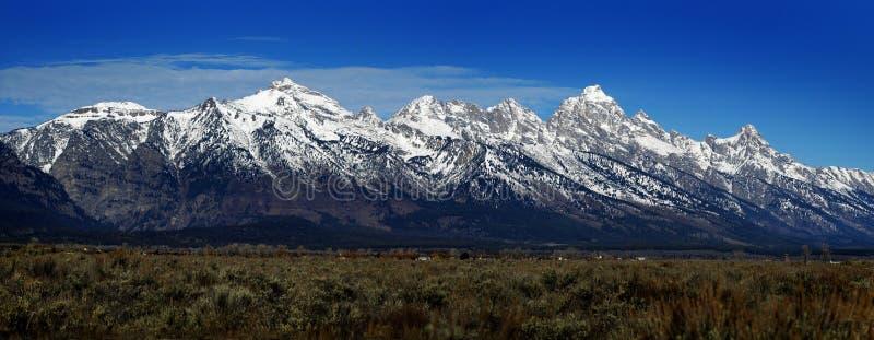 Mening van Teton-Bergketen Wyoming royalty-vrije stock afbeelding