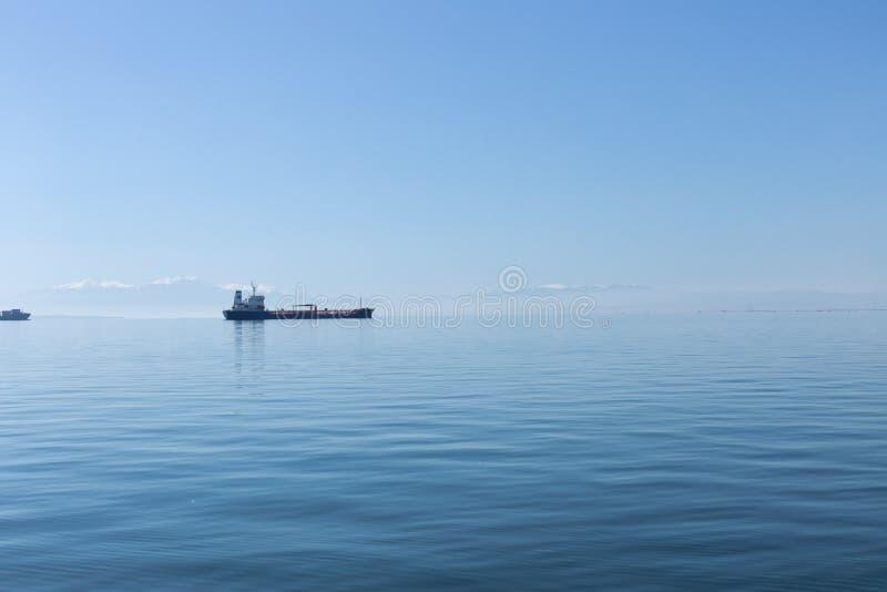 Mening van Thessaloniki Haven royalty-vrije stock fotografie