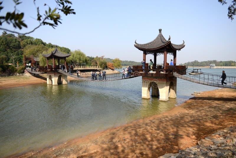 Mening van Tianmu-Meer royalty-vrije stock foto's
