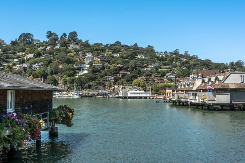 Mening van Tiburon, Californië royalty-vrije stock afbeelding