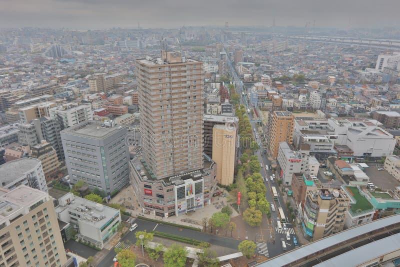Mening van Tokyo in Funabashi royalty-vrije stock foto