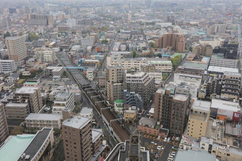 Mening van Tokyo in Funabashi stock foto