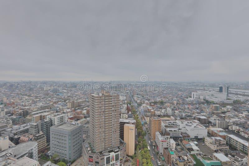 Mening van Tokyo in Funabashi stock afbeelding