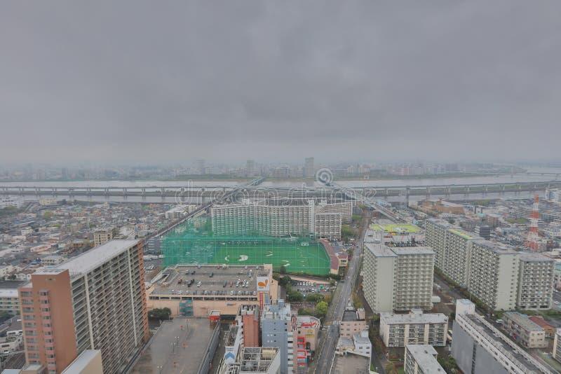 Mening van Tokyo in Funabashi stock foto's