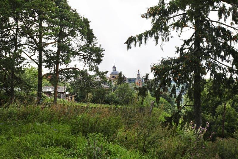 Mening van Torzhok-stad Rusland stock foto